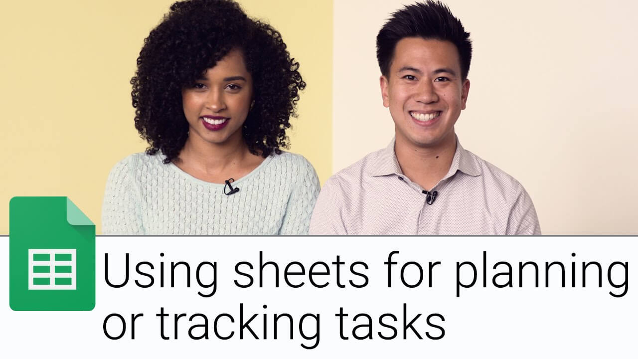 Using sheets for planning or tracking tasks