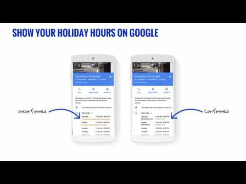 How to adjust holiday hours with Google My Business